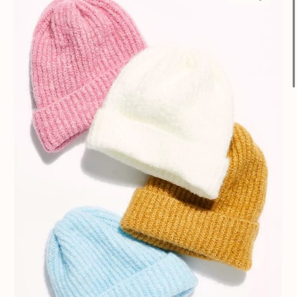 Free People Pink Lullaby Rib Cozy Beanie One Size